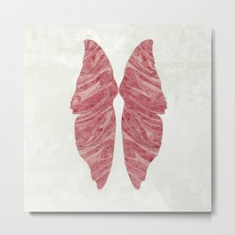 Abstract Butterfly Wings Design Metal Print