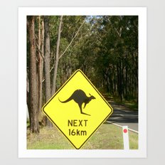 Australian road Signs Art Print