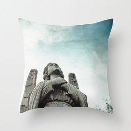 Stone Angel Throw Pillow