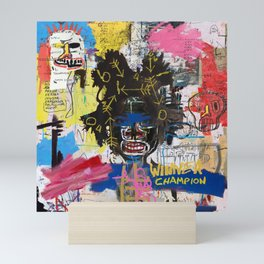Portrait of Basquiat Mini Art Print