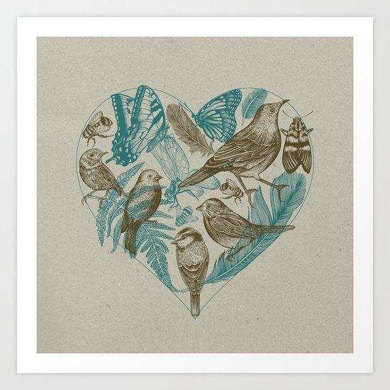 Wild Heart Art Print