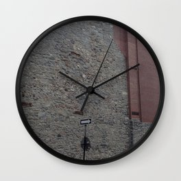 Old Montreal Stone Architecture Wall Clock