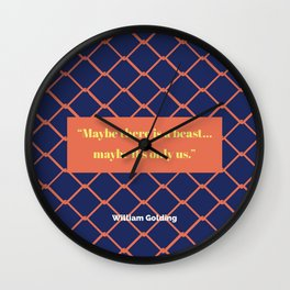 We Are the Beast Wall Clock