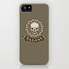 Badass skull iPhone Case