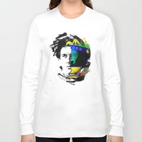 senna Long Sleeve T-shirts featuring Ayrton Senna do Brasil - White & Color Series #4 by Universo do Sofa - Artes & Etecetera