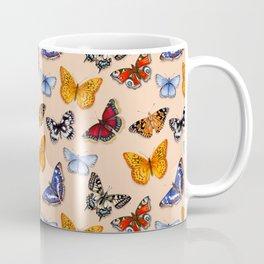 Butterflies on warm terracotta Coffee Mug