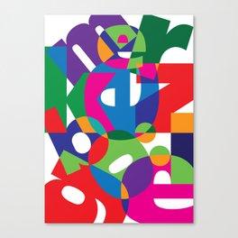Letter land Canvas Print