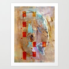 abstract in beige Art Print