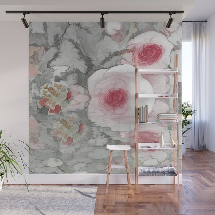 Floral Mirage Wall Mural