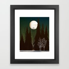 Into The Winter Woods Framed Art Print
