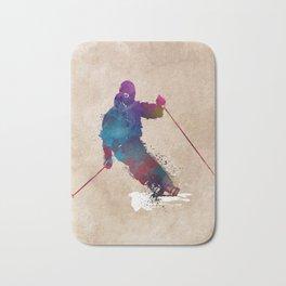 alpine skiing #ski #skiing #sport Bath Mat