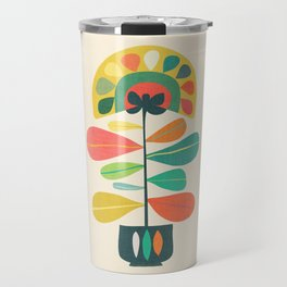 Fan Flower Travel Mug