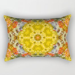 Marigold Kaleidoscope Photographic Pattern #1 Rectangular Pillow