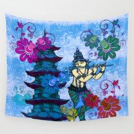 Krishna Rising Wall Tapestry