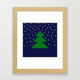 Knitted Christmas tree Framed Art Print