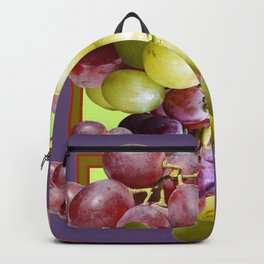PURPLE & GREEN GRAPES VINEYARD PURPLE DESIGN Backpack