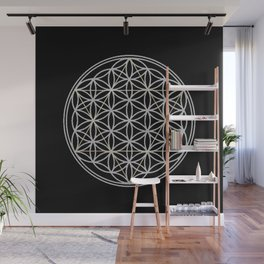 Flower of Life and Star of David Wall Mural