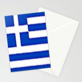 Greek flag Stationery Cards