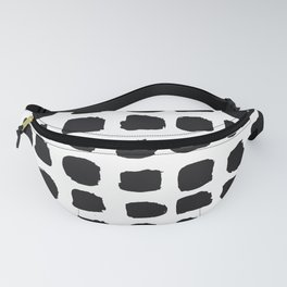 Abstract black and white Fanny Pack