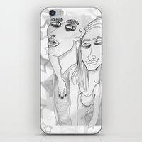 greys anatomy iPhone & iPod Skins featuring GREYS by The Bravo Sisters Art
