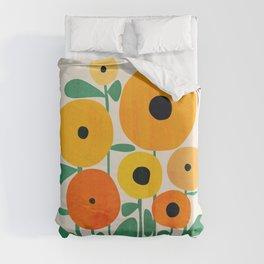 Sunflower and Bee Duvet Cover