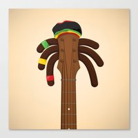 reggae Canvas Prints featuring Reggae by Emir Simsek