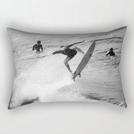 Surfer Launches Off Wave Rectangular Pillow