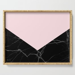 light pink and black marble Serving Tray