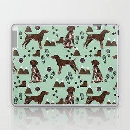 German Shorthair Pointer mountain hiking hiker outdoors camping dog breed Laptop & iPad Skin
