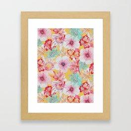 Pastel Floral Print Framed Art Print