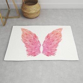 Pink Angel Wings Rug