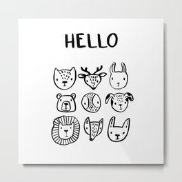 Say Hello Metal Print