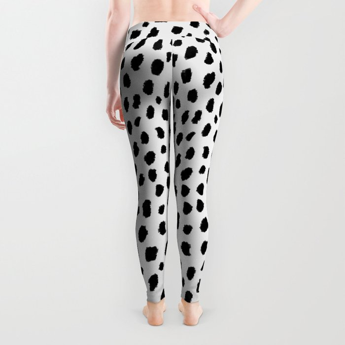 Dalmatian Spots (black/white) Leggings