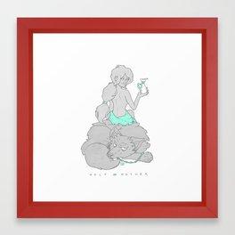 Wolf Mother Framed Art Print