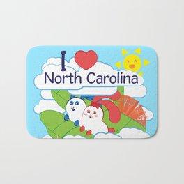 Ernest and Coraline | I love North Carolina Bath Mat