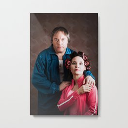 dingy couple family portrait. Metal Print