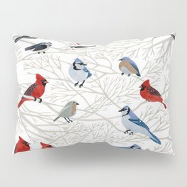 Winter Birds Pillow Sham