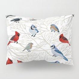 Winter Birds Pillow Sham