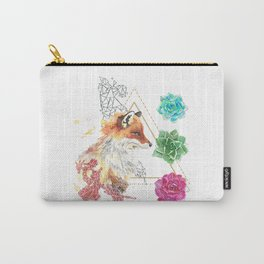 Fox with Succulents Carry-All Pouch