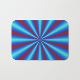 Red and Blue Pleats Bath Mat