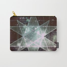 Galaxy Sacred Geometry : Stellated Icoshadron dark Carry-All Pouch