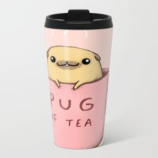 Pug of Tea Metal Travel Mug