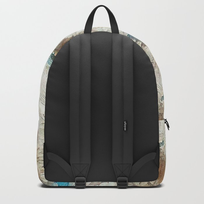 Earthy Floral Abstract Backpack