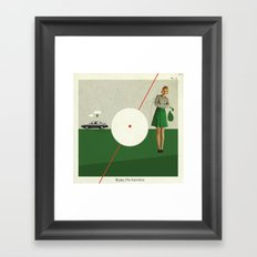 Blame The Sunshine | Collage Framed Art Print