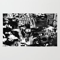 punk Area & Throw Rugs featuring Punk by HEADBANGPARTY