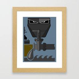 """Illustration poster """"Piracy"""" Framed Art Print"""