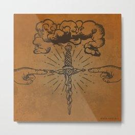 misterio visual 10: ojo de la furia divina Metal Print