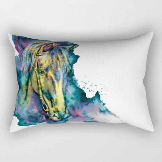 Horse Chained Beauty Rectangular Pillow