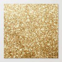 gold glitter Canvas Prints featuring Gold glitter by Masanori Kai