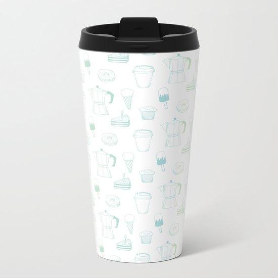 Coffee and Dessert Metal Travel Mug